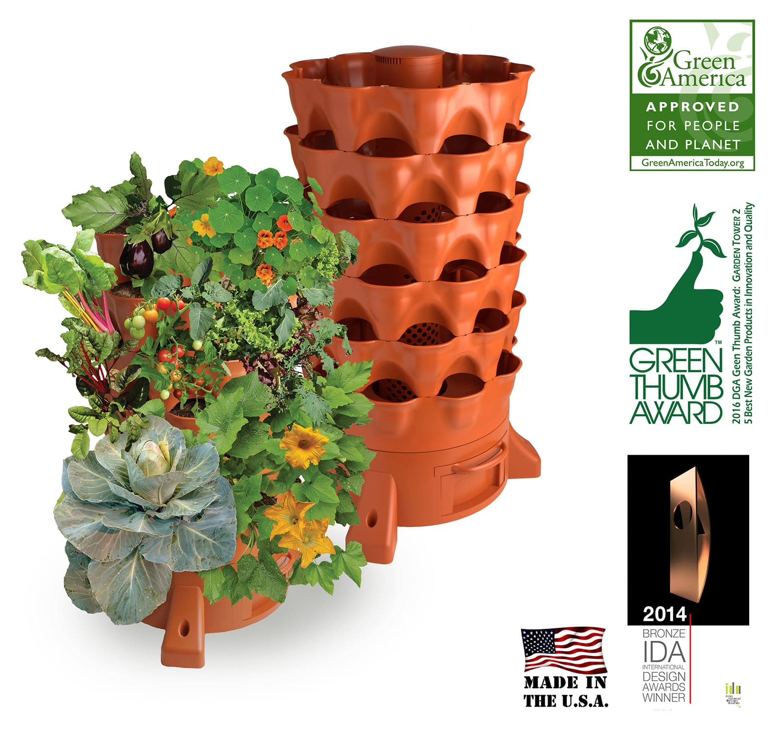 50 plant garden tower 2 by garden tower project happily natural day - Garden Tower Project