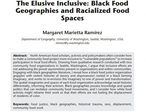 The Elusive Inclusive: Black Food Geographies and Racialized Food Spaces