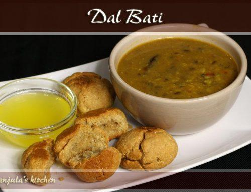 Dal Bati – Rajasthani Cuisine Recipe by Manjula